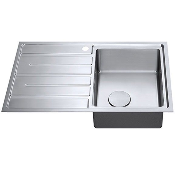 The 1810 Company Forzauno 800i 1.0 Bowl Kitchen Sink - Right Handed-1