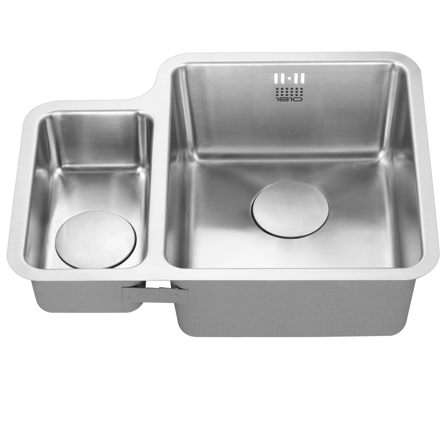 The 1810 Company Luxsoduo25 160/340U 1.5 Bowl Kitchen Sink - Right Handed-1