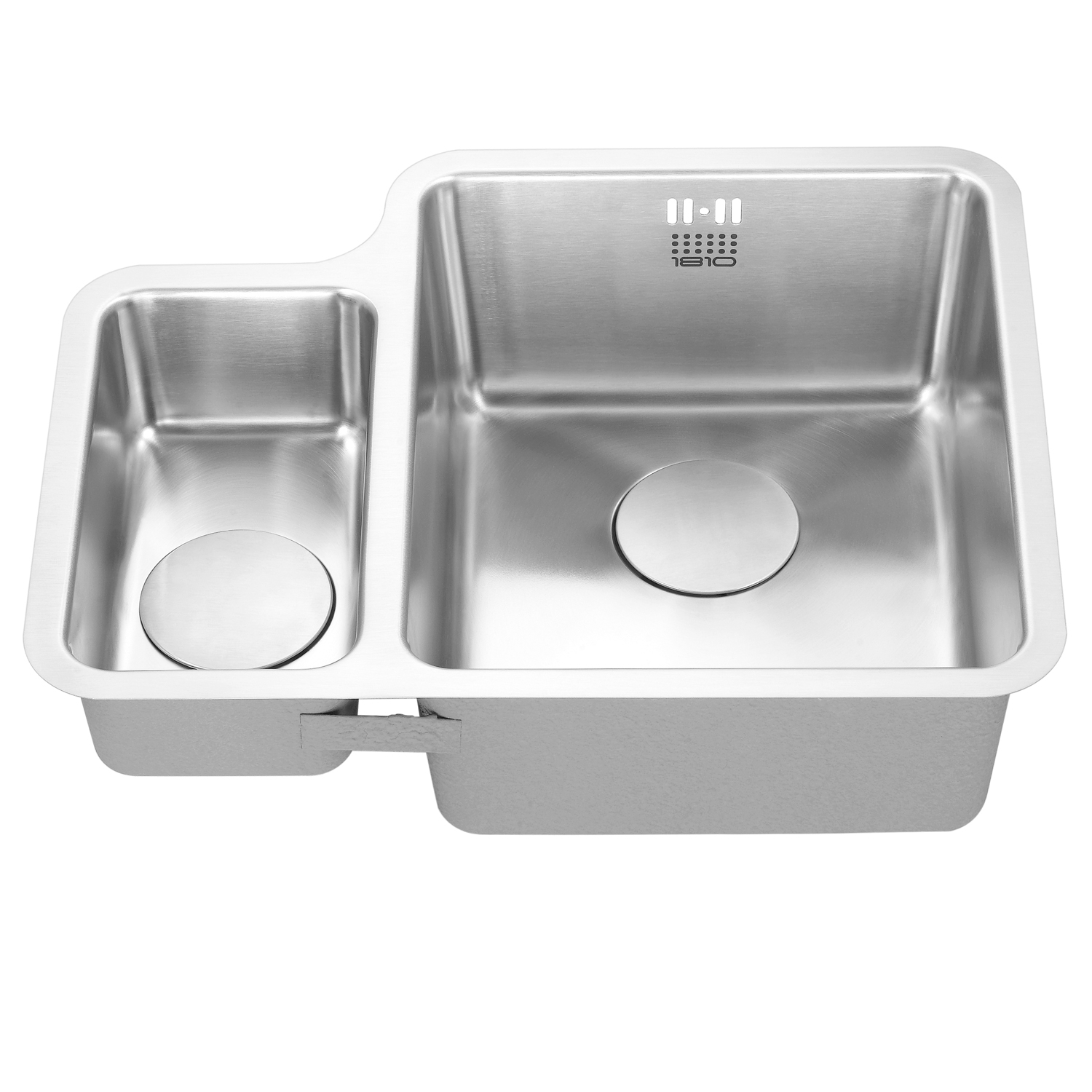 The 1810 Company Luxsoduo25 180/340U 1.5 Bowl Kitchen Sink - Right Handed