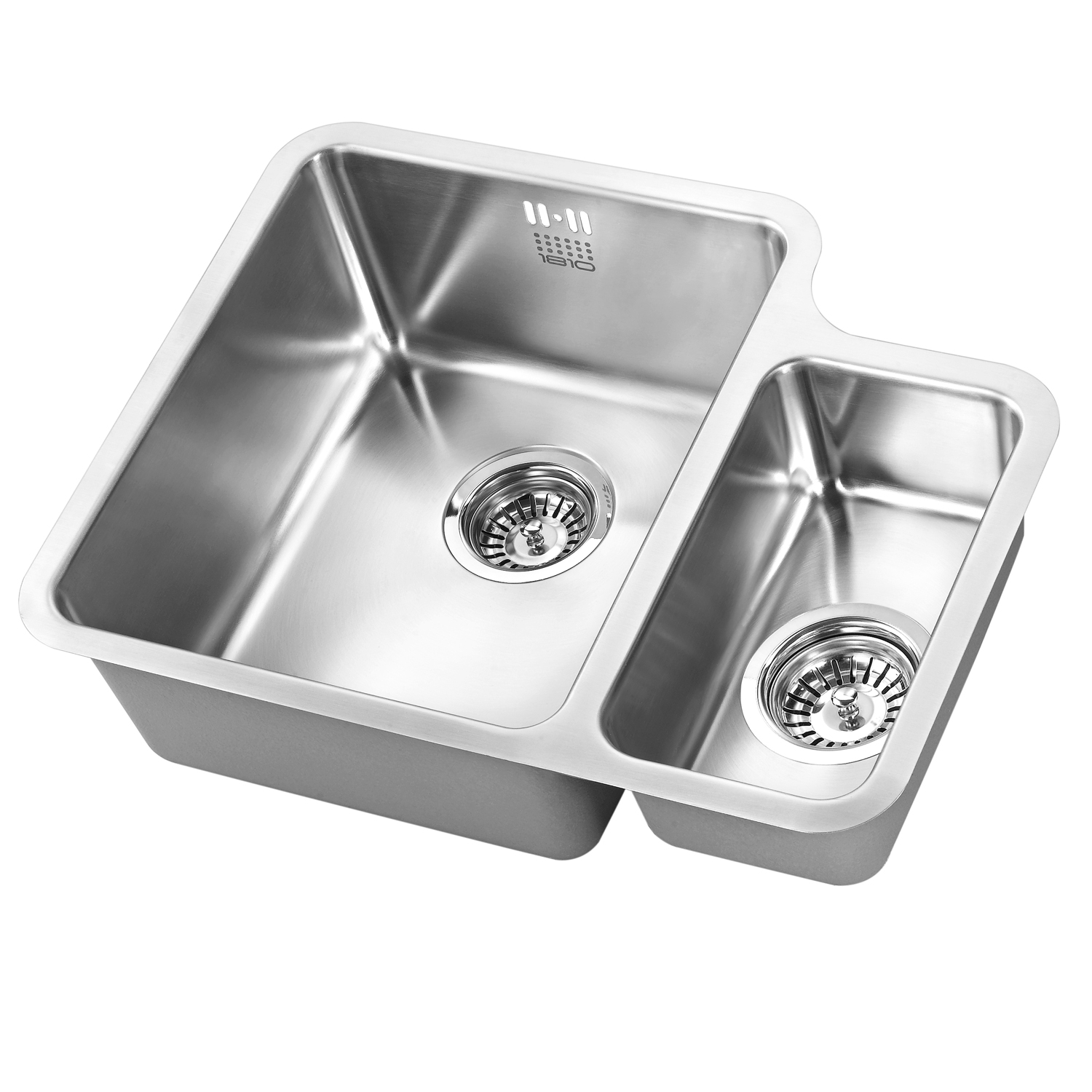 The 1810 Company Luxsoduo25 340/160U 1.5 Bowl Kitchen Sink - Left Handed