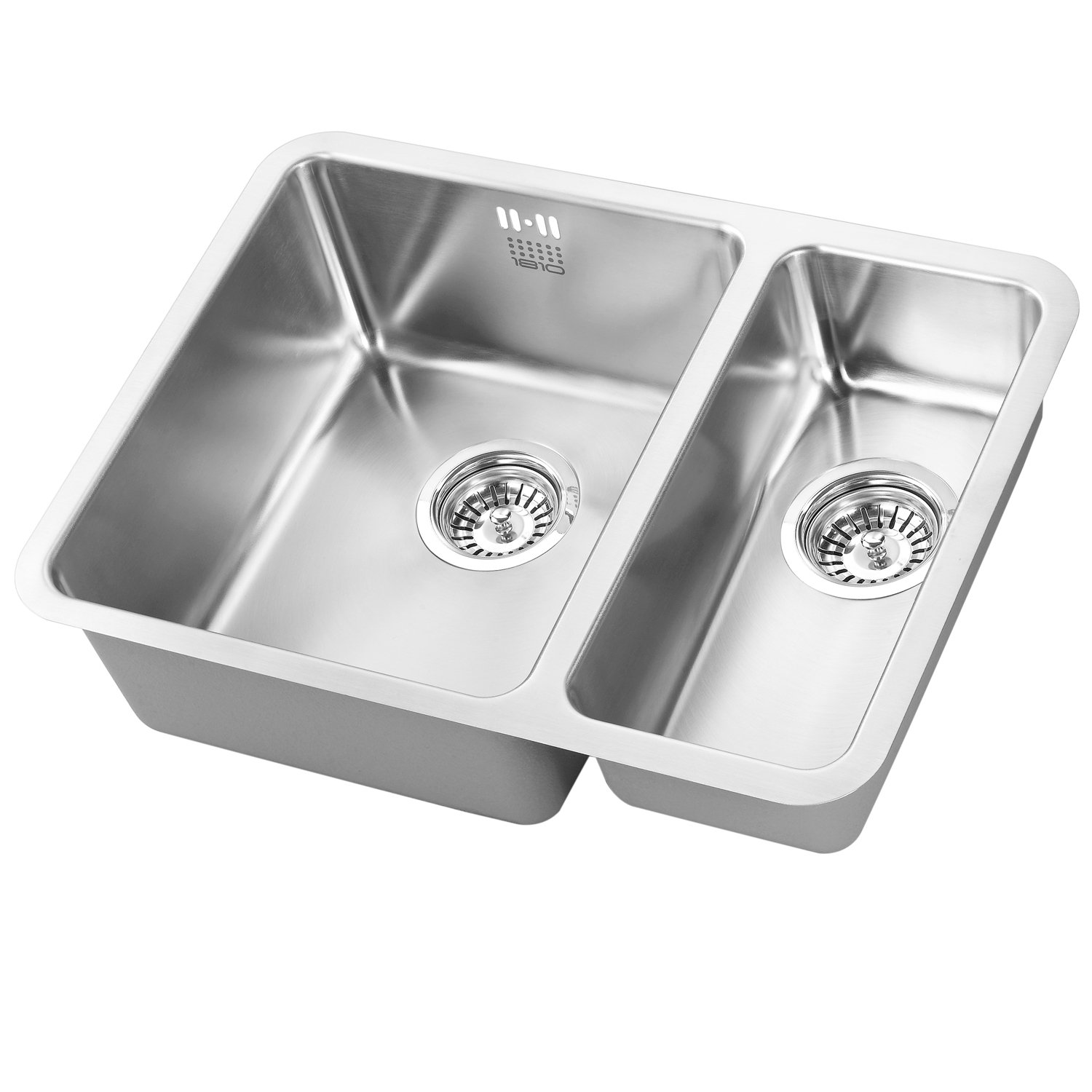 The 1810 Company Luxsoduo25 340/180U 1.5 Bowl Kitchen Sink - Left Handed-0