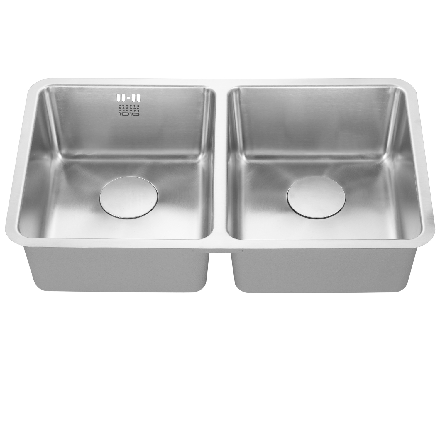 The 1810 Company Luxsoduo25 340/340U 2.0 Bowl Kitchen Sink - Stainless Steel