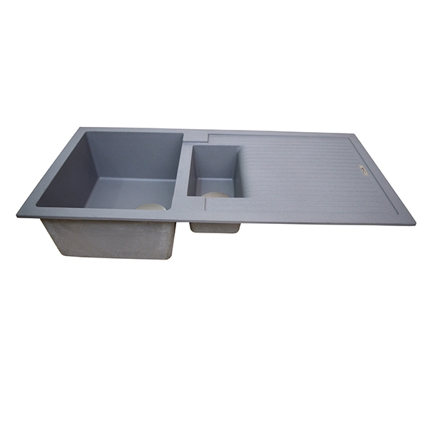 The 1810 Company Shardduo 150i 1.5 Bowl Kitchen Sink - Metallic Grey