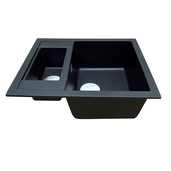 The 1810 Company Shardduo 615i 1.5 Bowl Kitchen Sink - Metallic Black