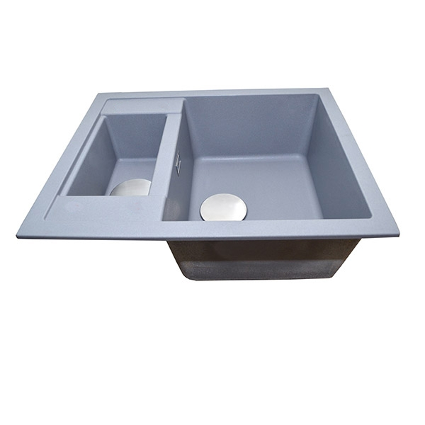 The 1810 Company Shardduo 615i 1.5 Bowl Kitchen Sink - Metallic Grey