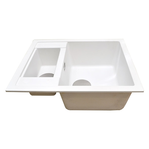 The 1810 Company Shardduo 615i 1.5 Bowl Kitchen Sink - Polar White