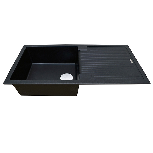 The 1810 Company Sharduno 100i 1.0 Bowl Kitchen Sink - Metallic Black