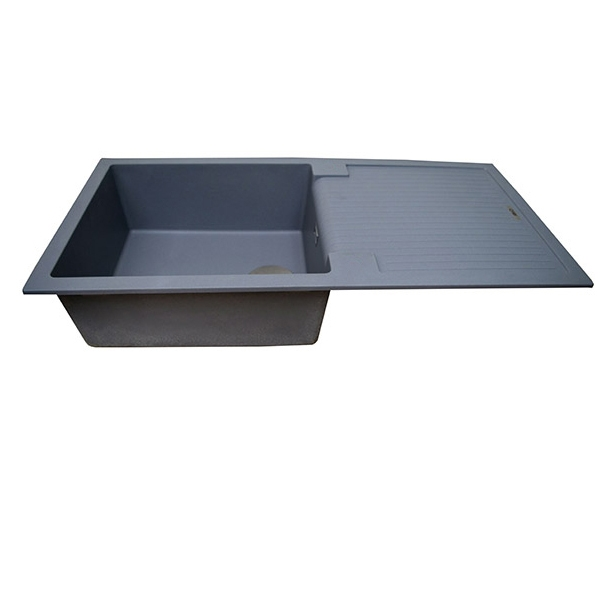 The 1810 Company Sharduno 100i 1.0 Bowl Kitchen Sink - Metallic Grey