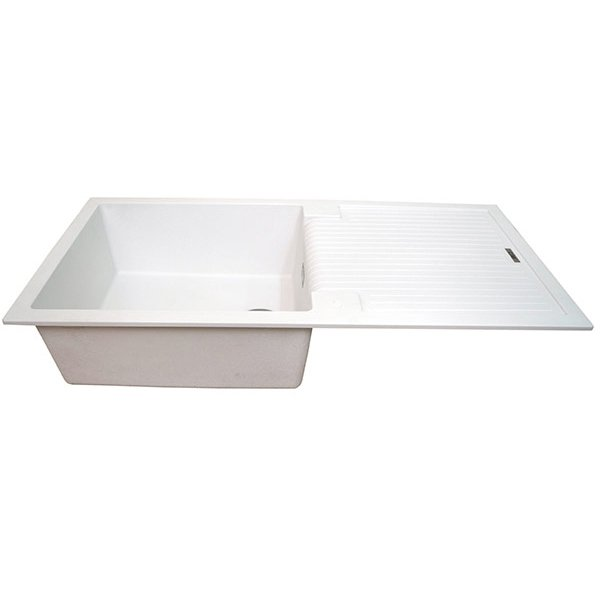 The 1810 Company Sharduno 100i 1.0 Bowl Kitchen Sink - Polar White-0