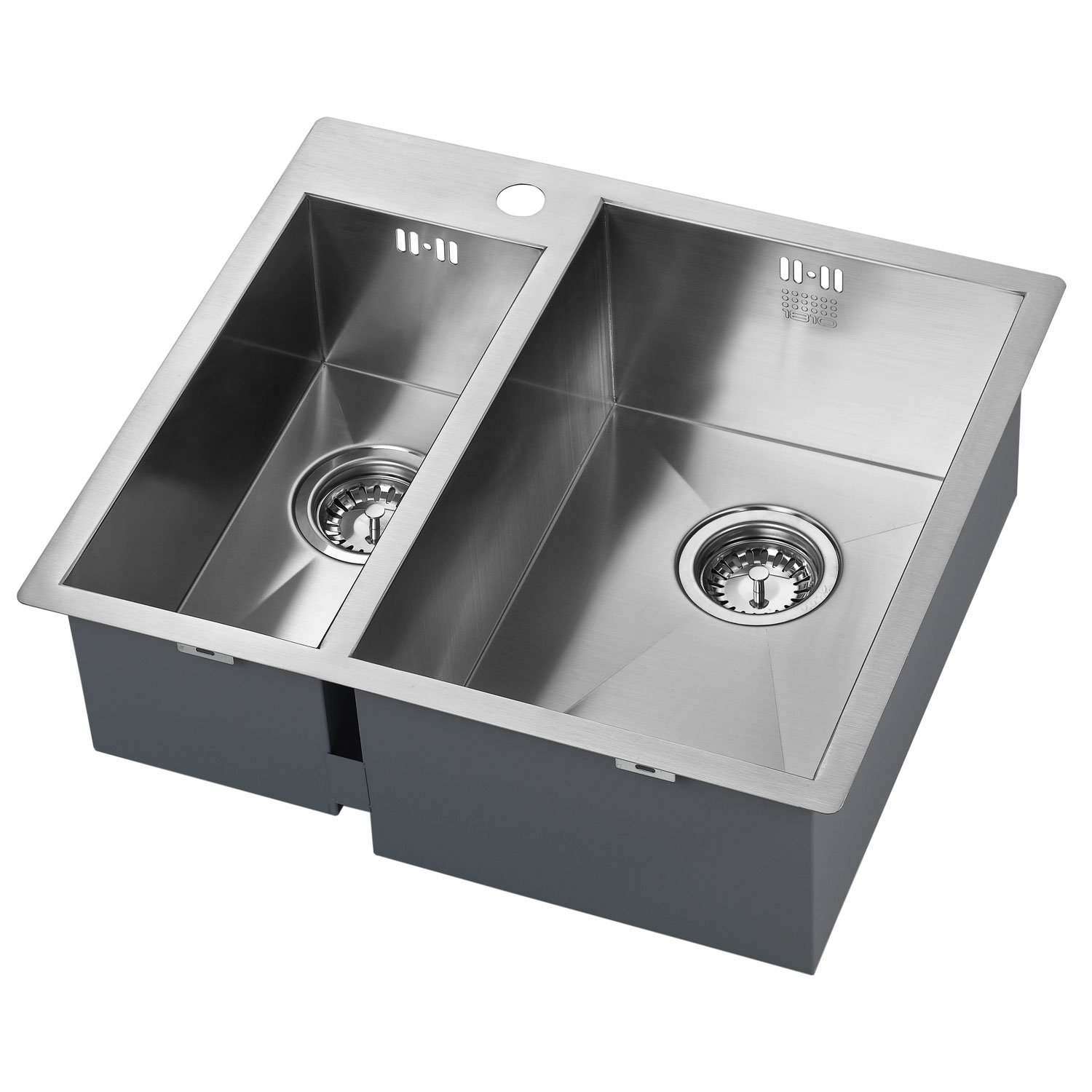 The 1810 Company Zenduo 180/310 I-F 1.5 Bowl Kitchen Sink - Right Hand-0