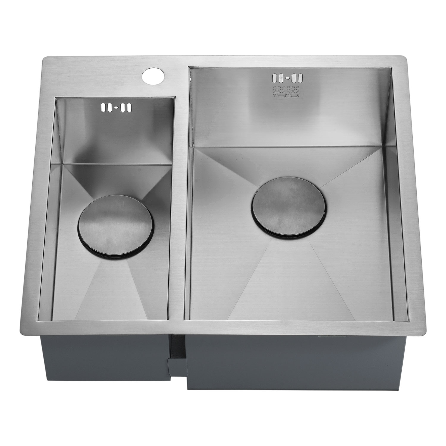 The 1810 Company Zenduo 180/310 I-F 1.5 Bowl Kitchen Sink - Right Hand-1