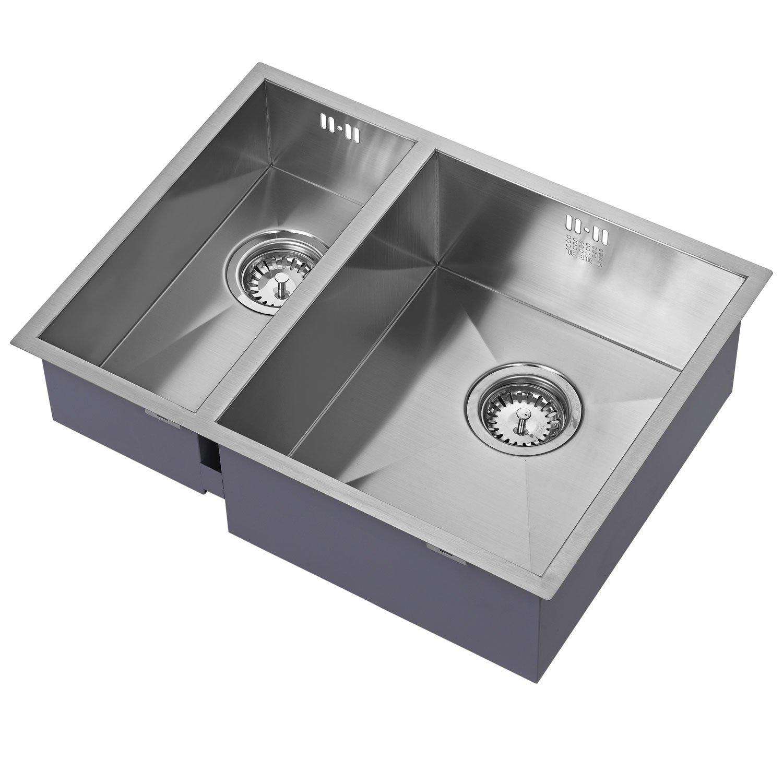 The 1810 Company Zenduo 180/340U 1.5 Bowl Kitchen Sink - Right Hand Main Bowl