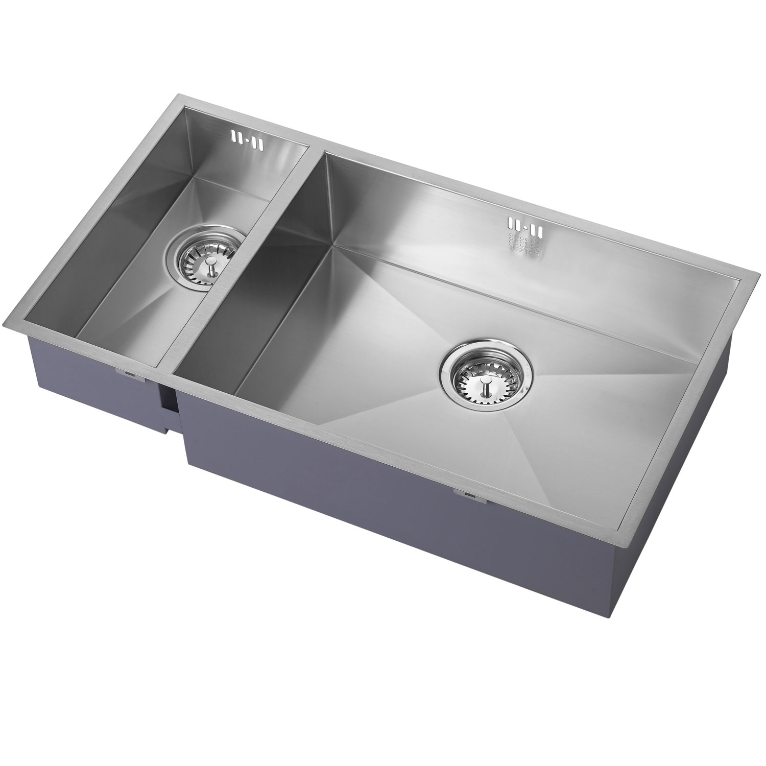 The 1810 Company Zenduo 180/550U 1.5 Bowl Kitchen Sink - Right Handed-0