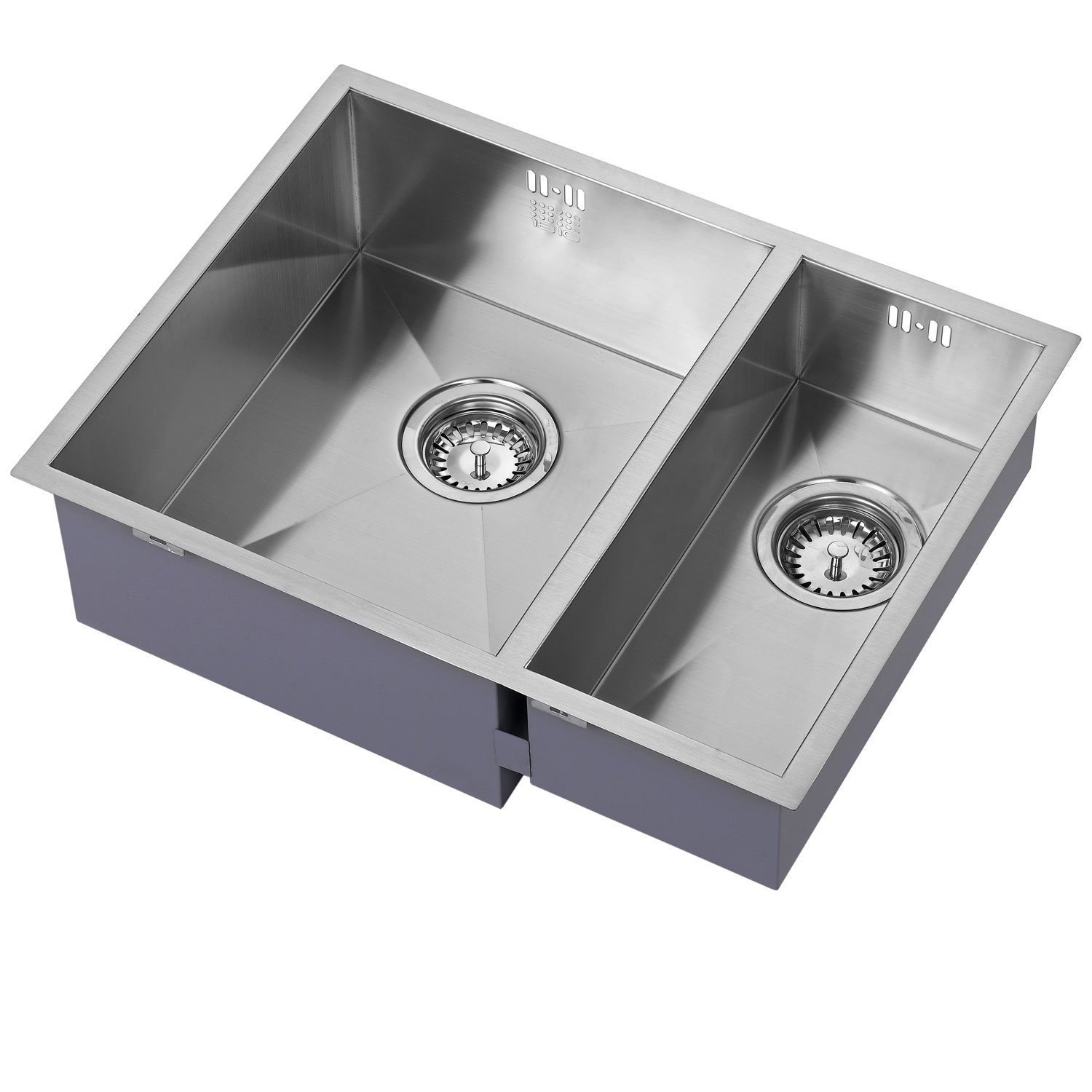 The 1810 Company Zenduo 340/180U 1.5 Bowl Kitchen Sink - Left Handed-0