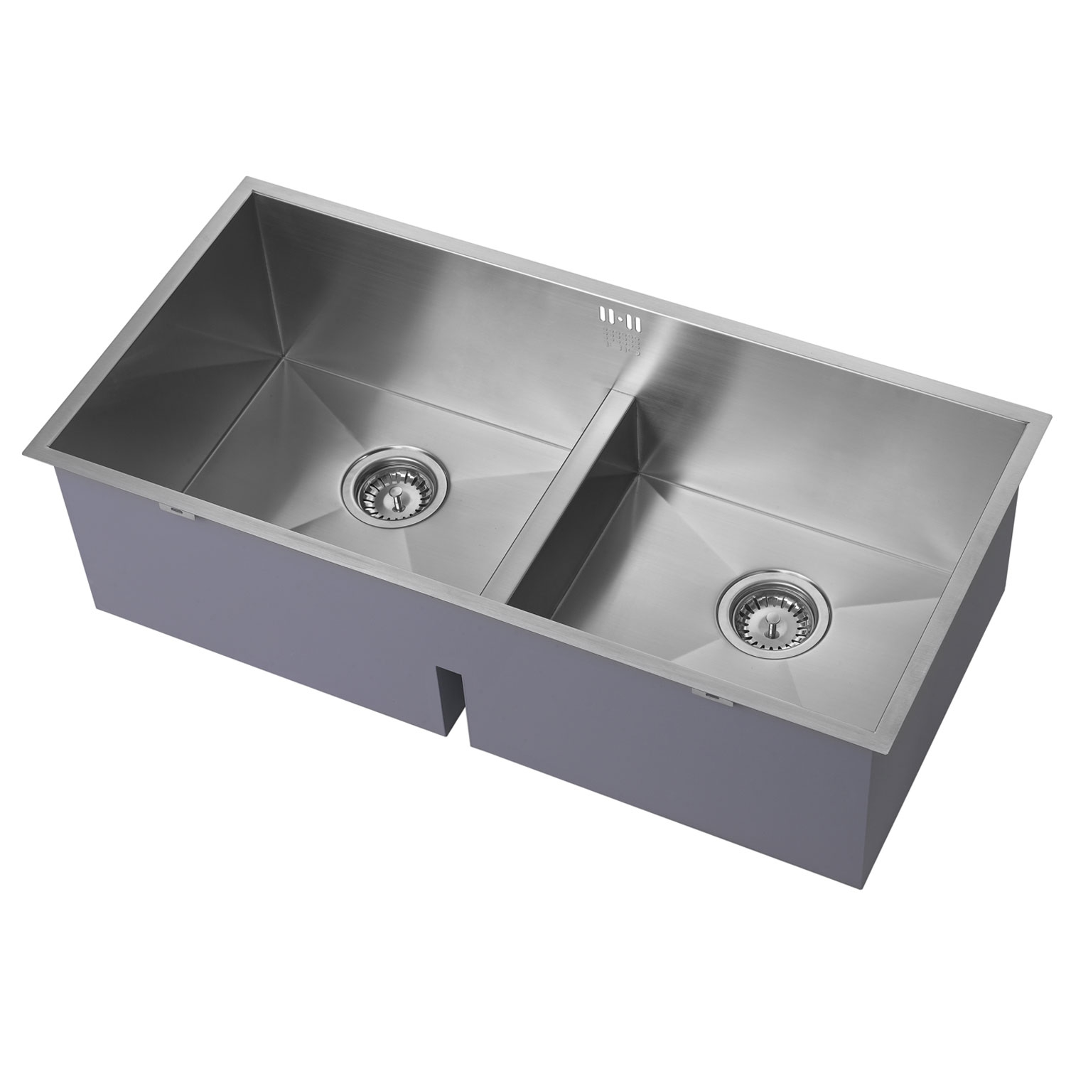 The 1810 Company Zenduo 415/415U Deep 2.0 Bowl Kitchen Sink - Stainless Steel-0