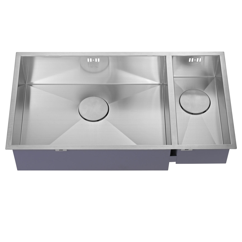 The 1810 Company Zenduo 550/180U 1.5 Bowl Kitchen Sink - Left Hand Main Bowl