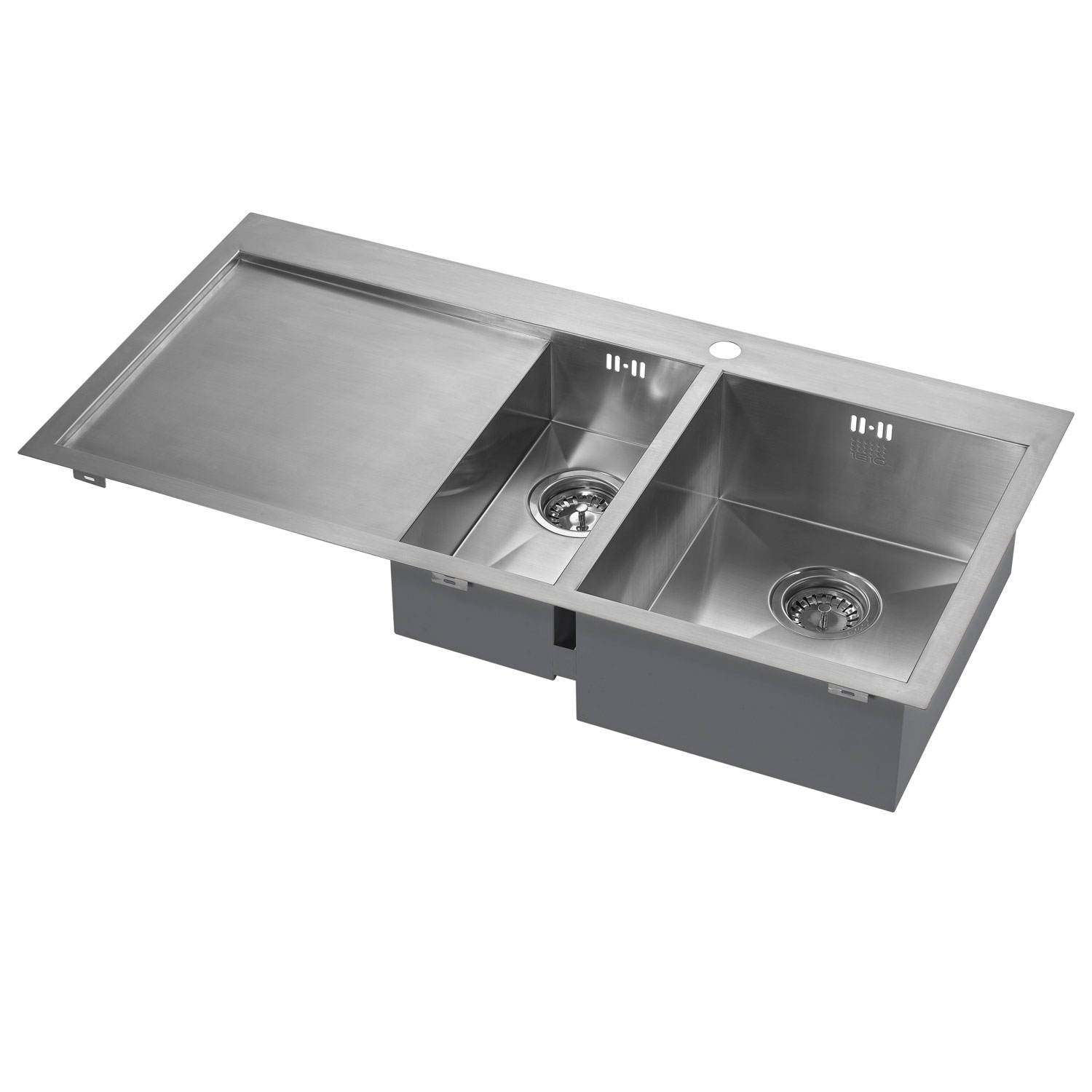 The 1810 Company Zenduo 6 I-F 1.5 Bowl Kitchen Sink - Right Hand-0