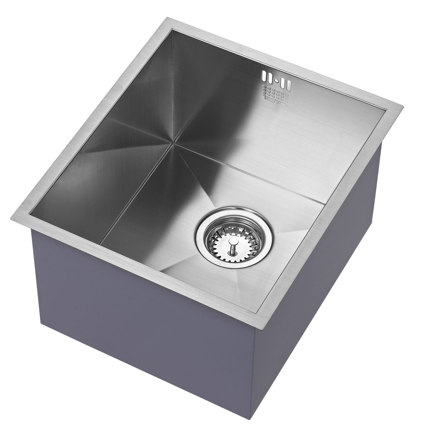 The 1810 Company Zenuno 340U Deep 1.0 Bowl Kitchen Sink - Stainless Steel-0