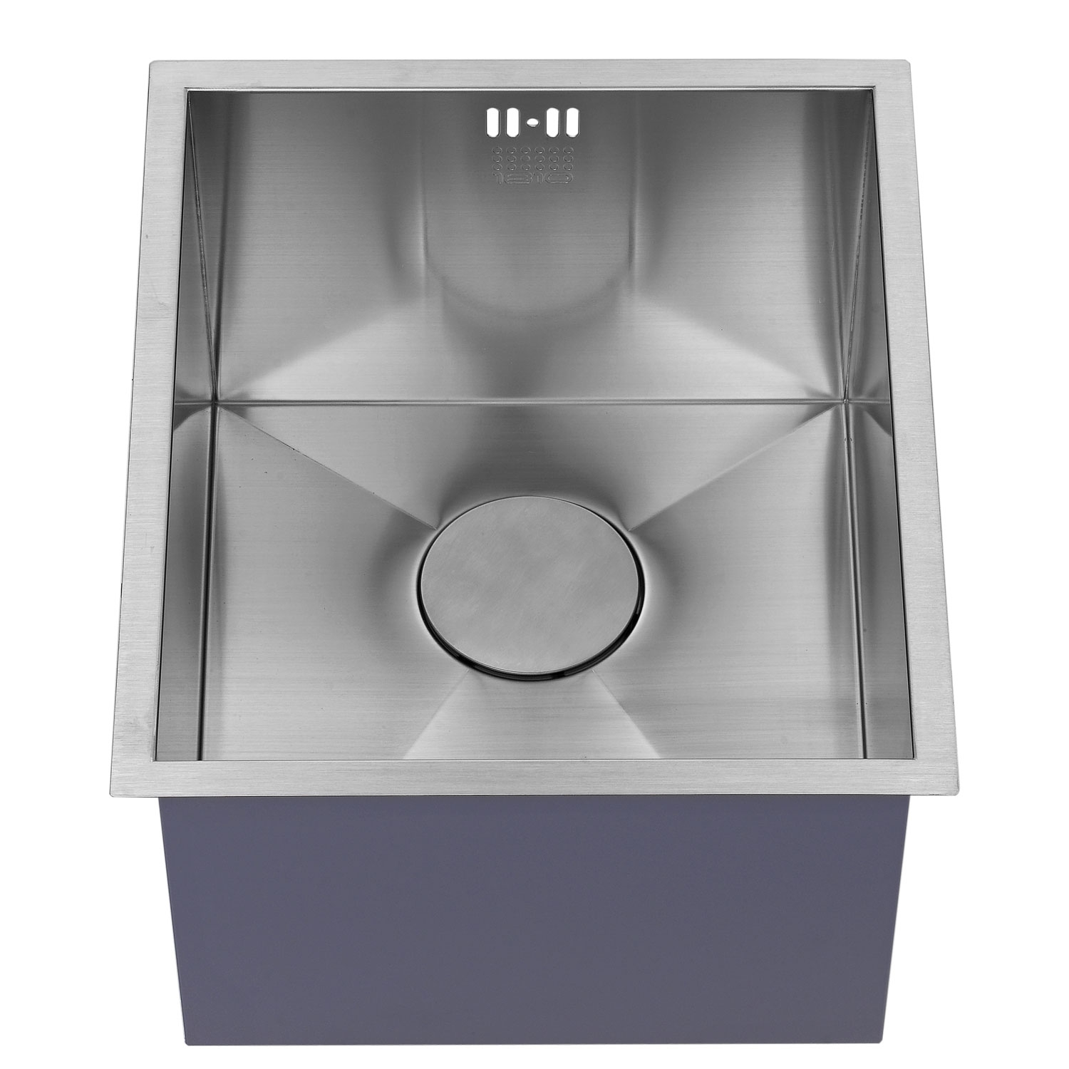 The 1810 Company Zenuno 340U Deep 1.0 Bowl Kitchen Sink - Stainless Steel-1