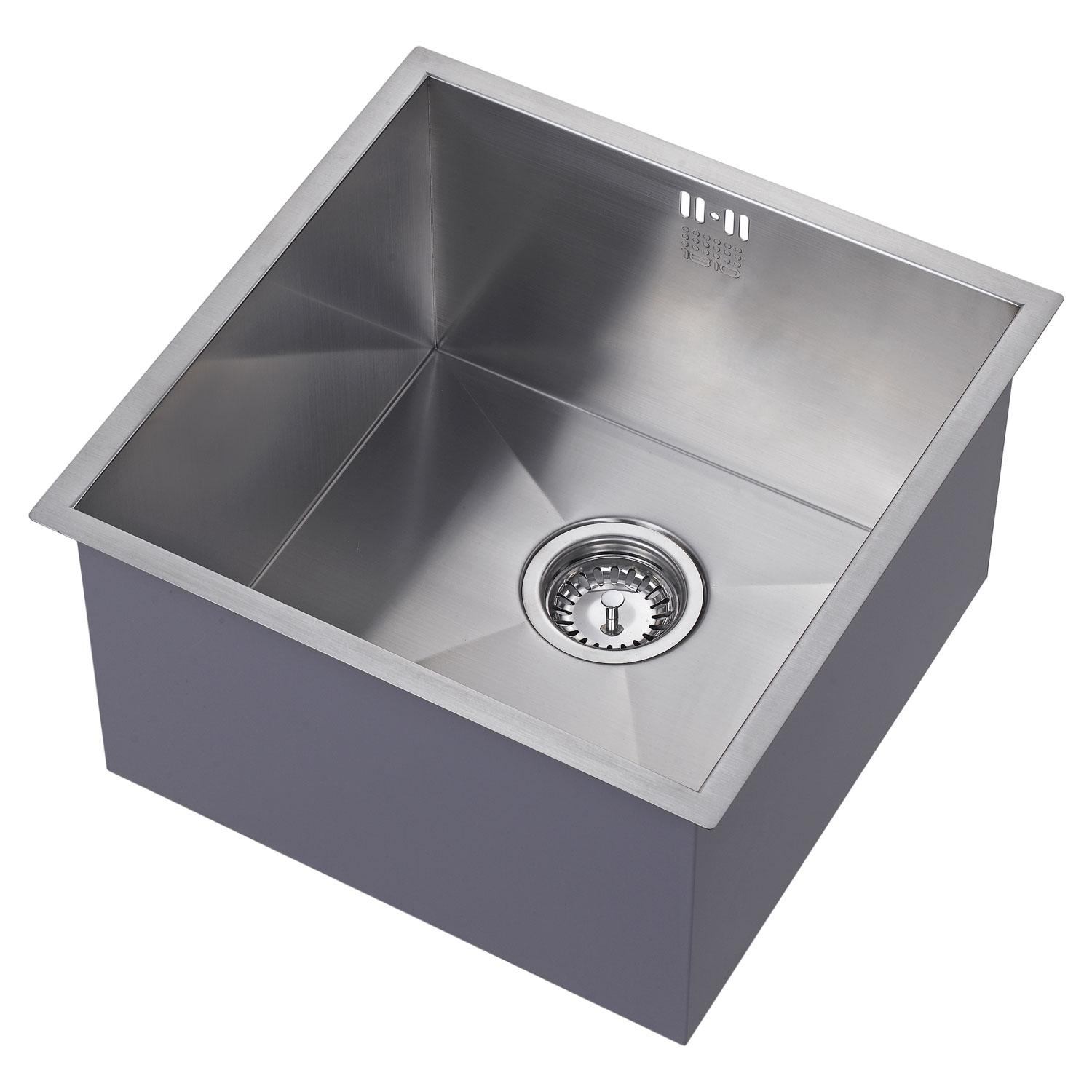 The 1810 Company Zenuno 400U Deep 1.0 Bowl Kitchen Sink - Stainless Steel-0