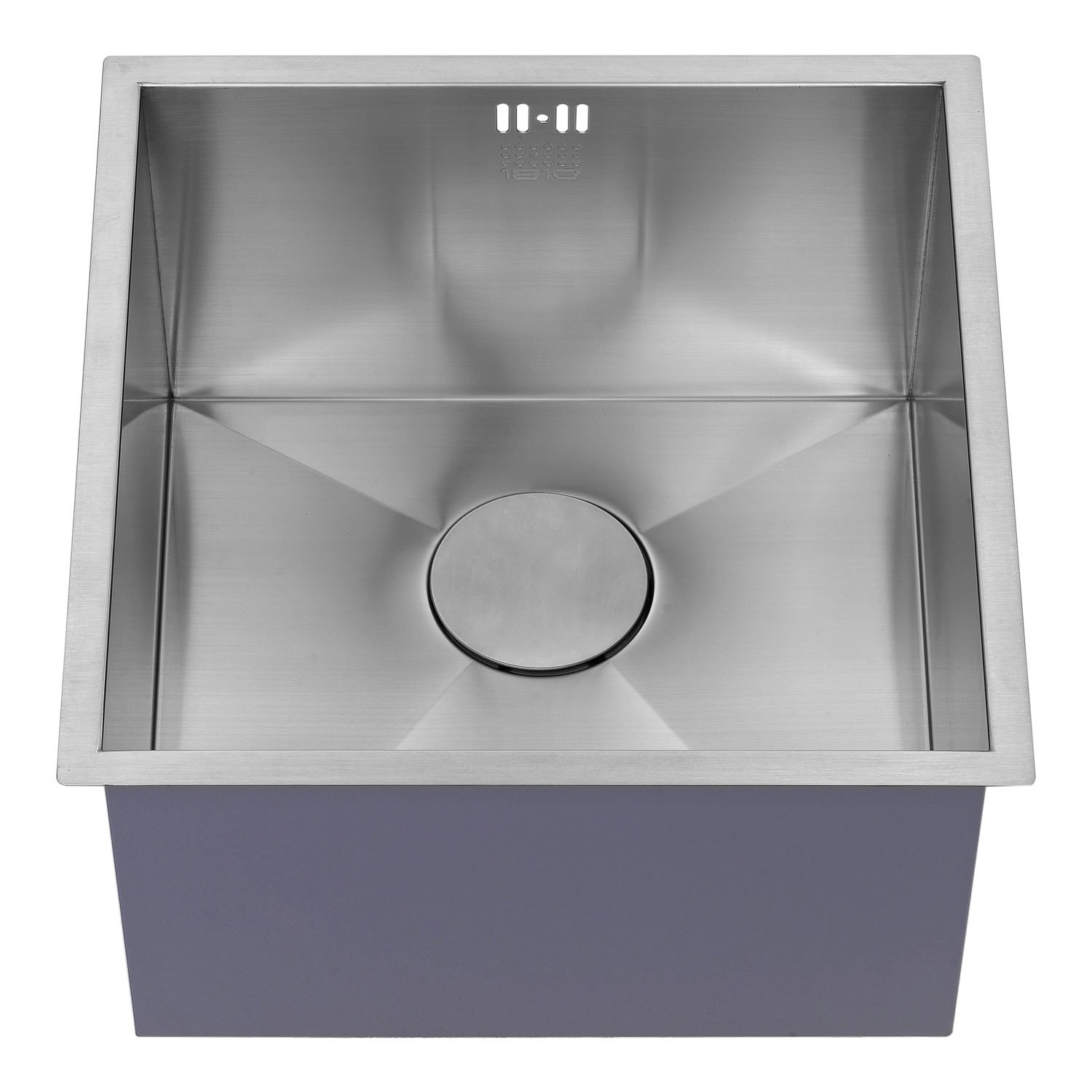 The 1810 Company Zenuno 400U Deep 1.0 Bowl Kitchen Sink - Stainless Steel-1
