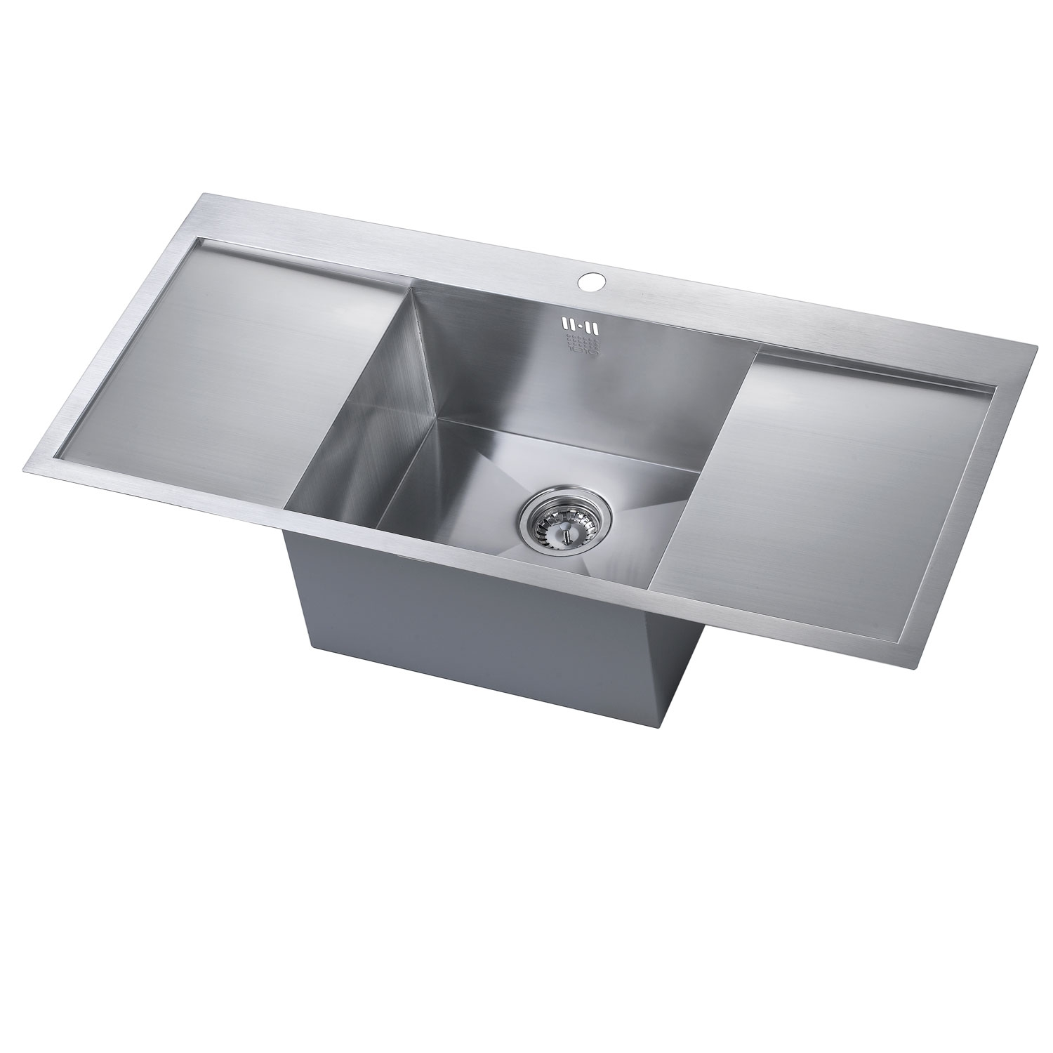The 1810 Company Zenuno 45 I-F Deep 1.0 Bowl Kitchen Sink - Stainless Steel-0