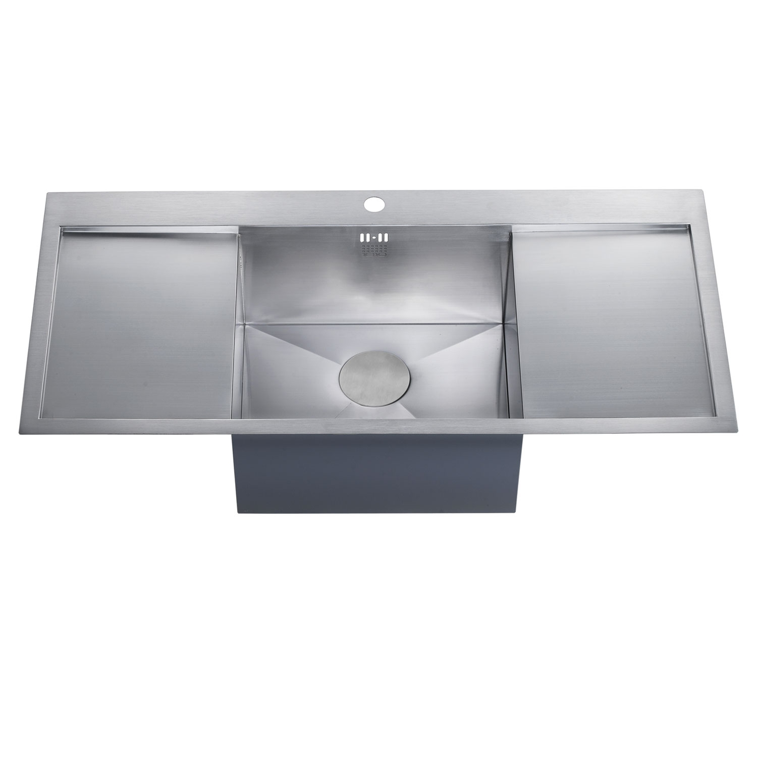 The 1810 Company Zenuno 45 I-F Deep 1.0 Bowl Kitchen Sink - Stainless Steel-1