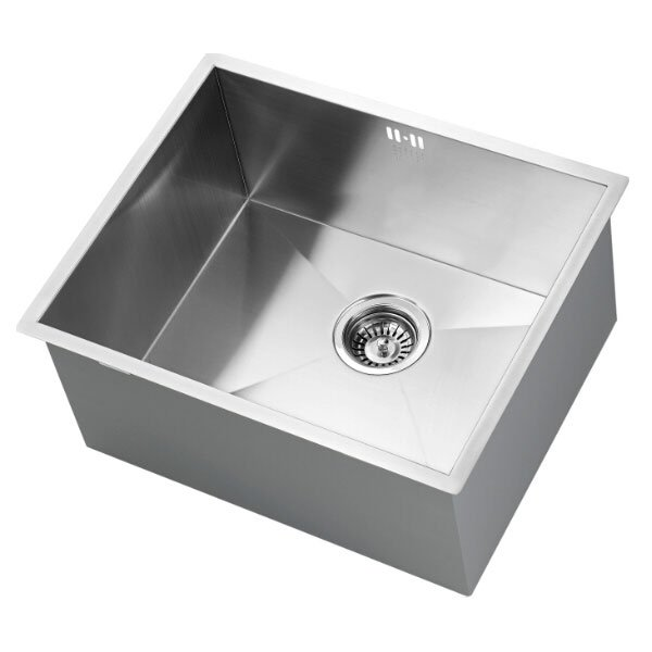 The 1810 Company Zenuno 500U Deep 1.0 Bowl Kitchen Sink - Stainless Steel