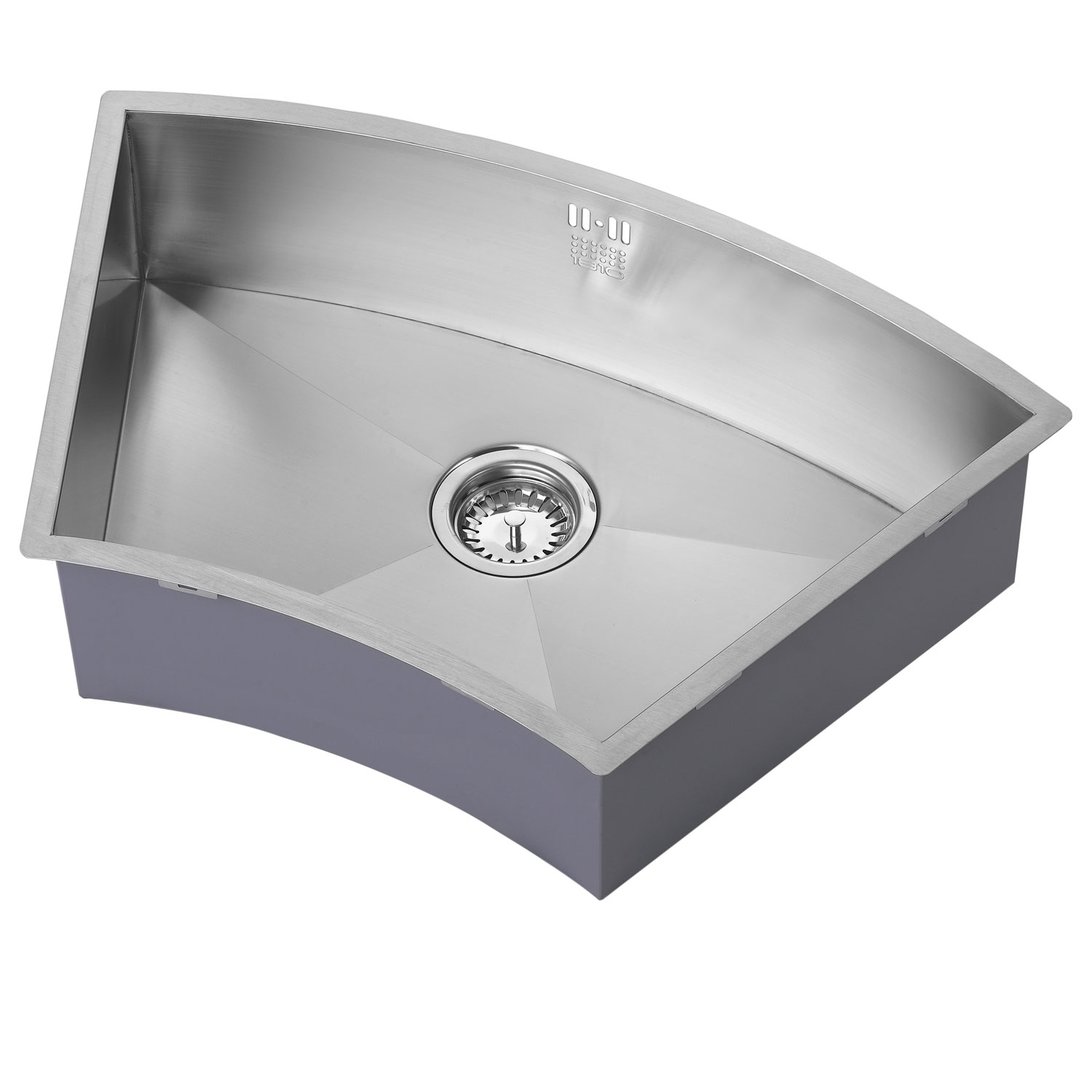 The 1810 Company Zenuno 675U Curve 1.0 Bowl Kitchen Sink - Stainless Steel-0