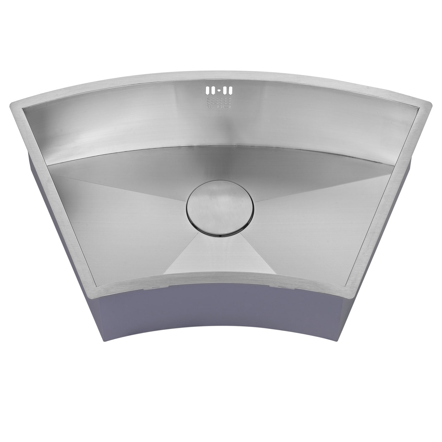 The 1810 Company Zenuno 675U Curve 1.0 Bowl Kitchen Sink - Stainless Steel-1