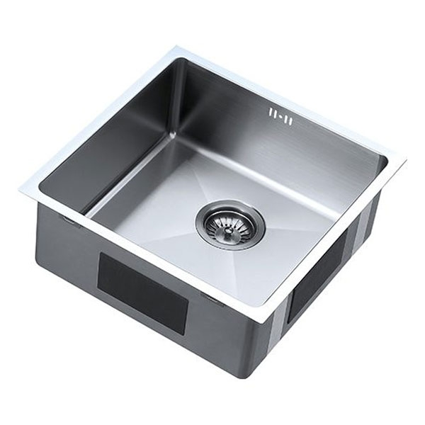 The 1810 Company Zenuno15 400U 1.0 Bowl Kitchen Sink - Gun Metal Finish-1