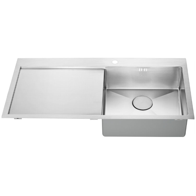 The 1810 Company Zenuno15 5 I-F 1.0 Bowl Kitchen Sink - Right Handed-1