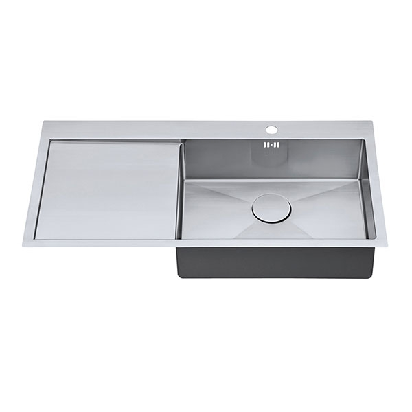 The 1810 Company Zenuno15 55 I-F 1.0 Bowl Kitchen Sink - Right Handed-1
