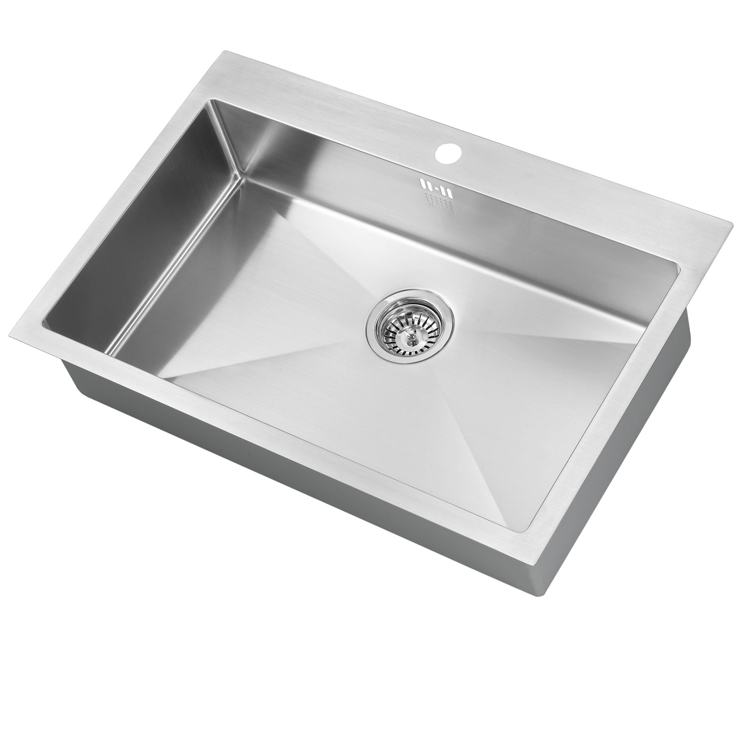 The 1810 Company Zenuno15 70 I-F 1.0 Bowl Kitchen Sink - Stainless Steel-0