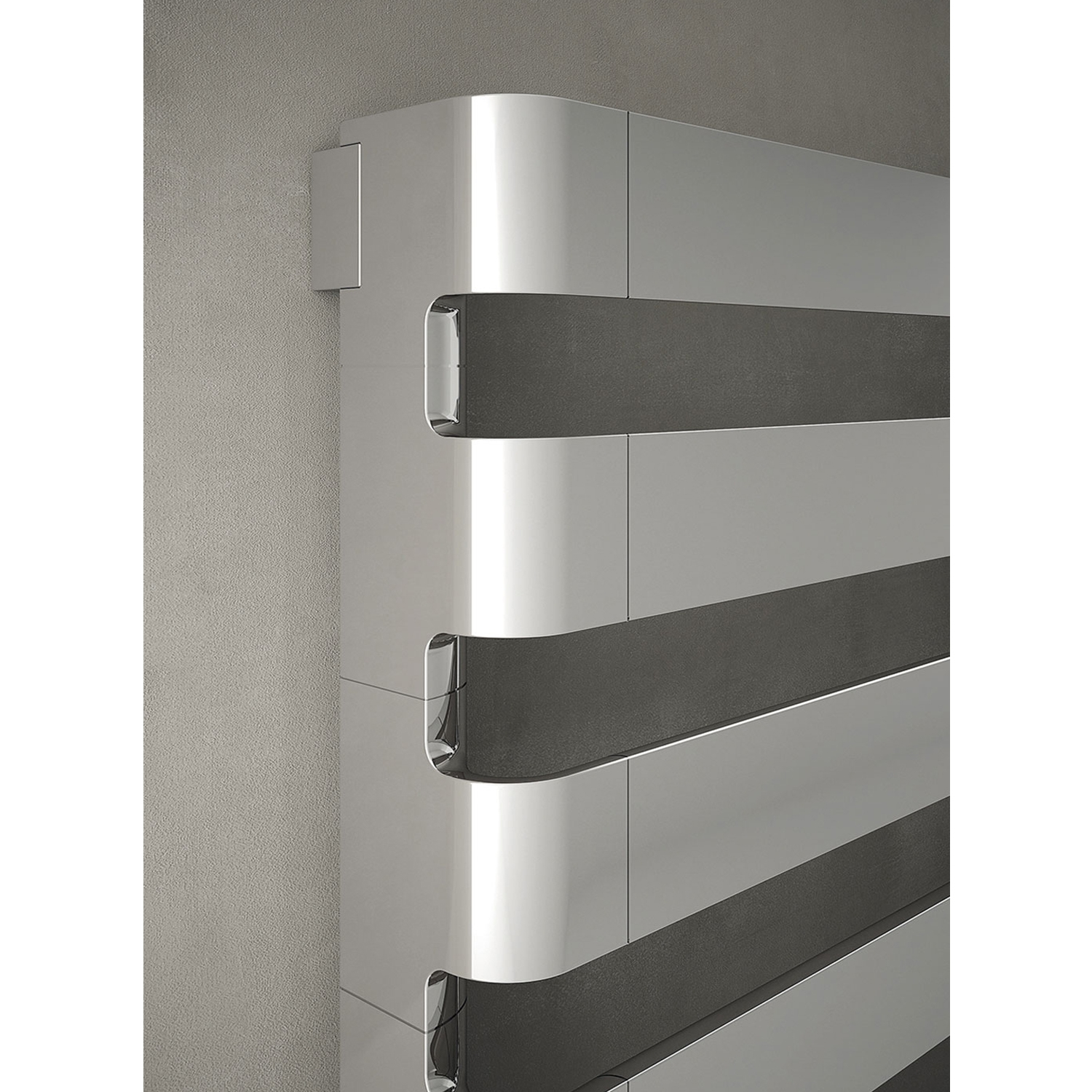 TRC BDO Step Heated Towel Rail 430mm H x 1800mm W - Chrome