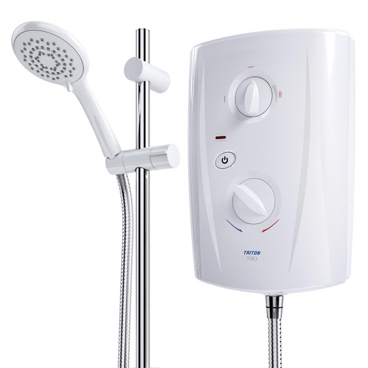 Triton T80 Pro-Fit Electric Shower 9.5KW - White