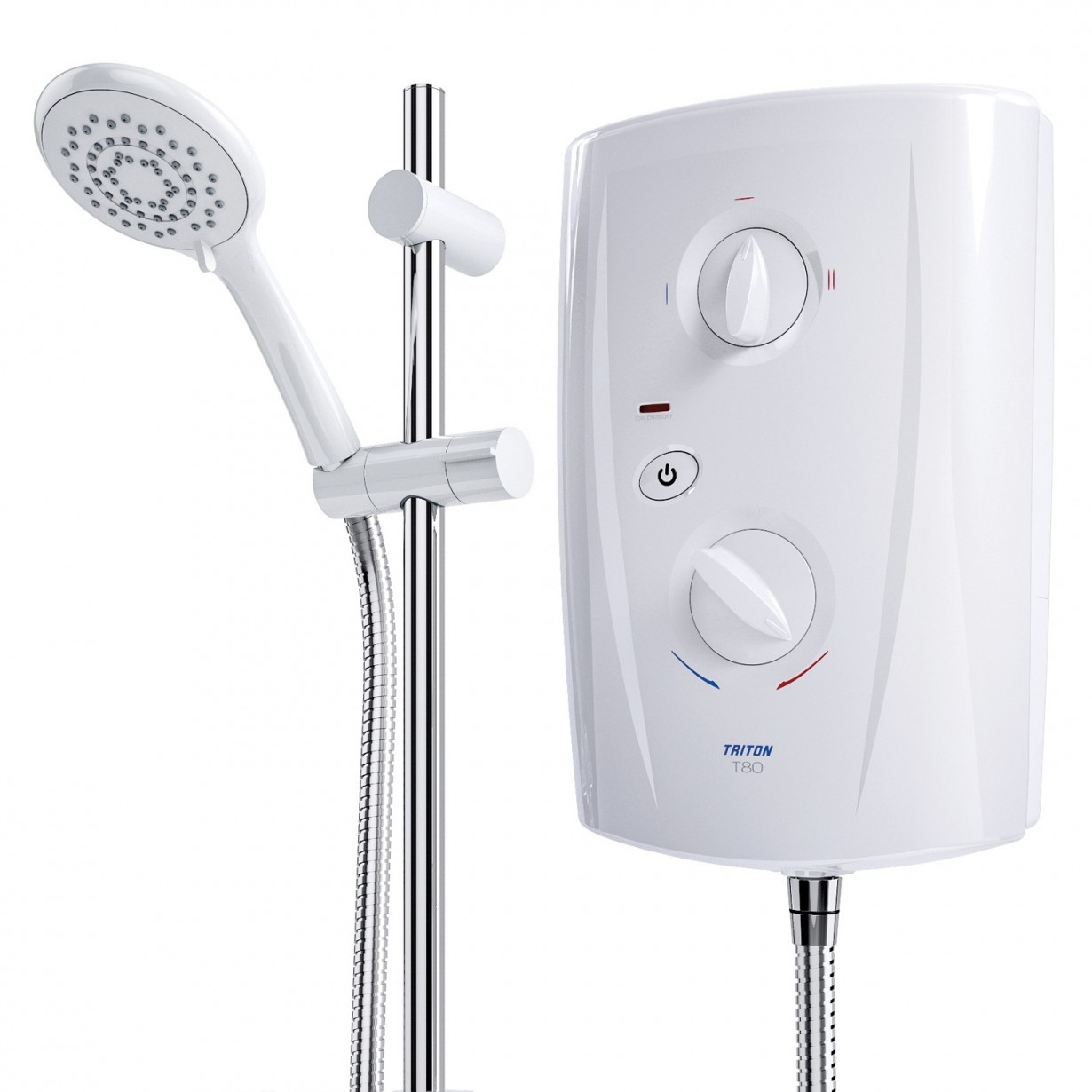Triton T80 Pro-Fit Eco Electric Shower 8.5KW - White