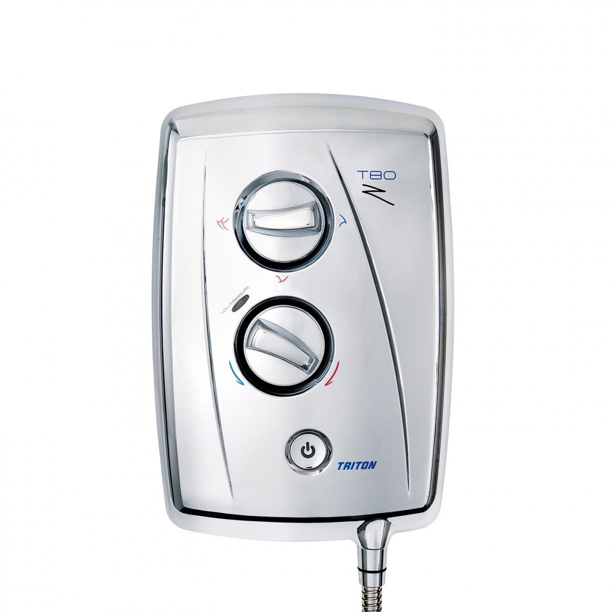 Triton T80Z Fast Fit Electric Shower 10.5KW - Chrome