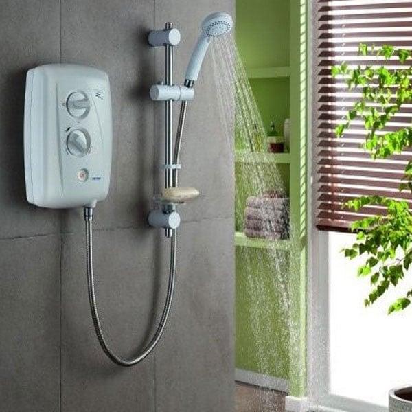 Triton T80Z Fast-Fit Electric Shower White/Chrome 7.5kW-0