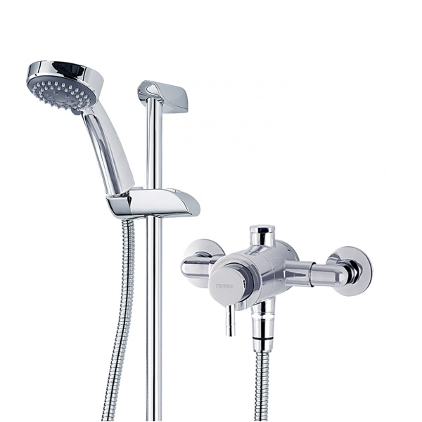 Triton Thames Large Sequential Exposed Mixer Shower with Shower Kit
