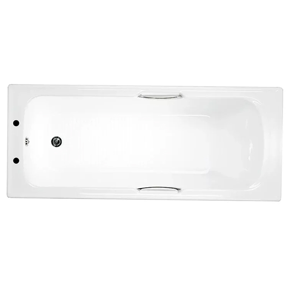 Trojan Granada Single Ended Rectangular Bath with Twin Grips 1675mm x 700mm - 5mm