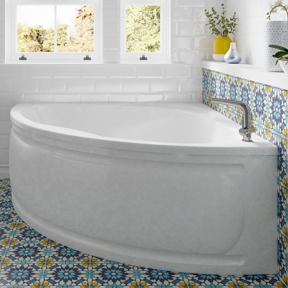 Trojan Laguna Double Ended Corner Bath 1350mm x 1350mm - No Tap Hole-0