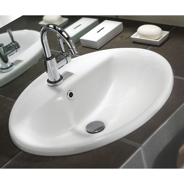 Twyford E100 Round Countertop Basin 550mm Wide - 1 Tap Hole