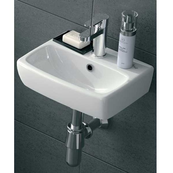 Twyford E100 Square Handrinse Basin 360mm Wide 1 Tap Hole-0