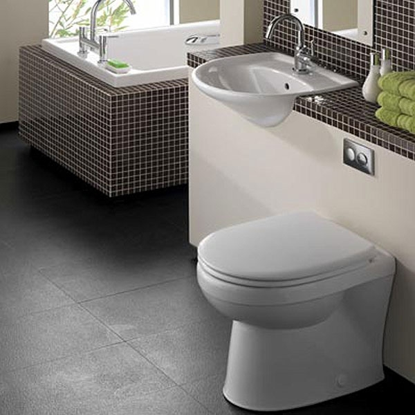 Twyford Galerie Semi-Recessed Basin 500mm Wide 2 Tap Hole