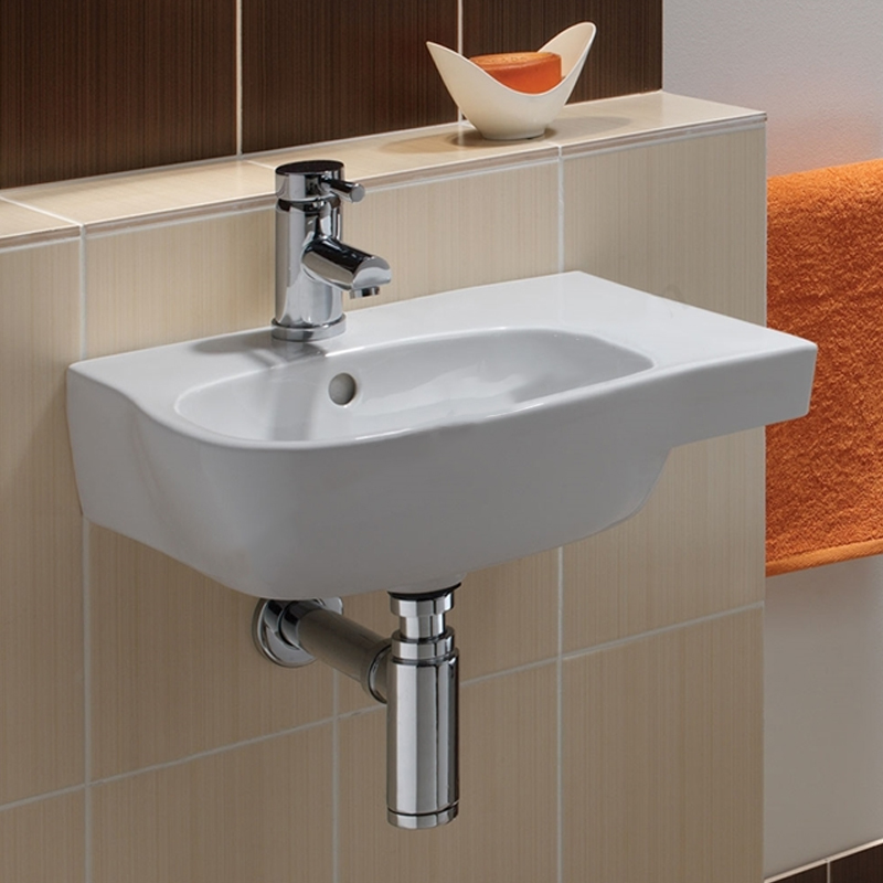 Twyford Moda Offset Washbasin 450mm Wide - 1 RH Tap Hole