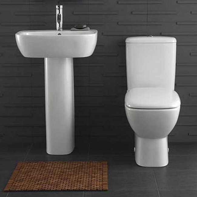 Twyford Moda Close Coupled Toilet WC Push Button Cistern - Standard Seat and Cover