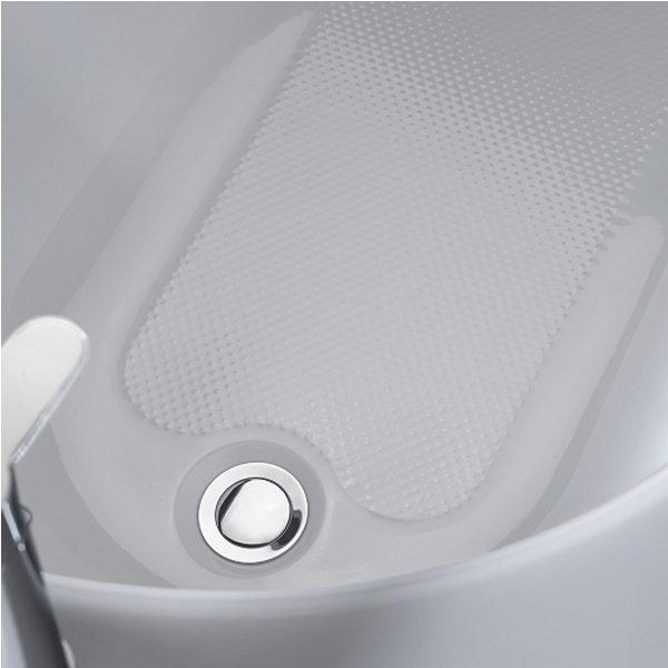 Twyford Opal Single Ended Bath with Twin Grips 1700mm x 700mm - 2 Tap Hole-0