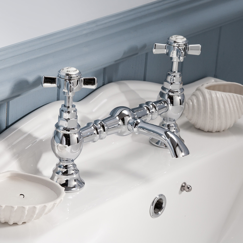Premier Beaumont Luxury 2-Hole Basin Mixer Tap Deck Mounted - Chrome