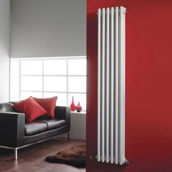 Hudson Reed Colosseum 3-Column Vertical Radiator 1800mm H x 291mm W, White